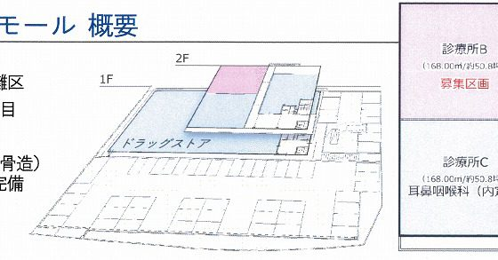 平面図(神戸新在家医療モール)